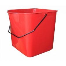 Ведро для двойной уборочной тележки (23 л, красное)