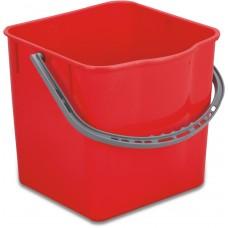 Пластиковое ведро MIMOSA (красное, 25 л)