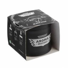 Ароматизатор гелевый «Aroma Motors» BLACK STAR в картонной упаковке (круглый) 100 мл