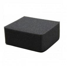 Губка черная химостойкая 120х100х50 мм